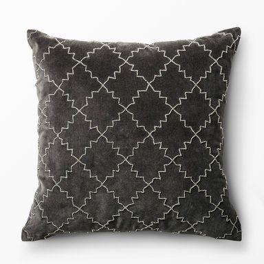 Kudde Deco, 50x50 cm, grå