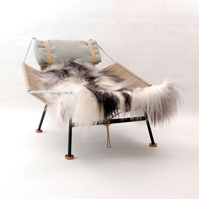 The Flag Halyard Chair, model GE225 by Hans Wegner at Rubylux.com