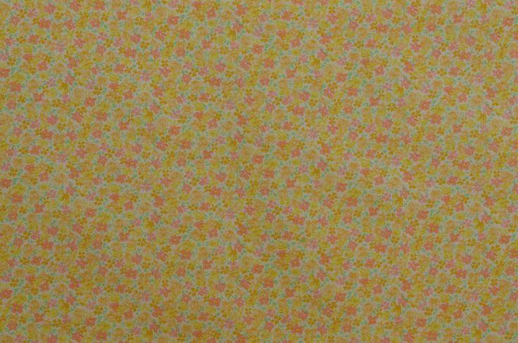 Vintage bloemen stof, Floral katoenweefsel, kleine Print stof, katoenen stof, Vintage stof, gele stof - 1 1/4 Yard - CFL2243 door TheFabricScore op Etsy https://www.etsy.com/nl/listing/512329526/vintage-bloemen-stof-floral