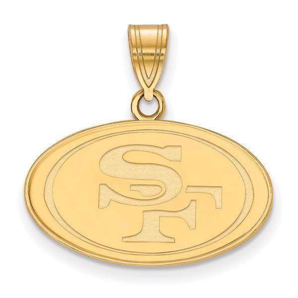 San Francisco 49ers Gold-Plated Medium Logo Pendant, Your Price: $69.99