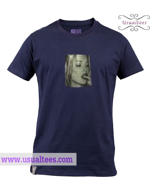 Girl Smoking T Shirt from usualtees.com This t-shirt is Made To Order, one by one printed so we can control the quality.