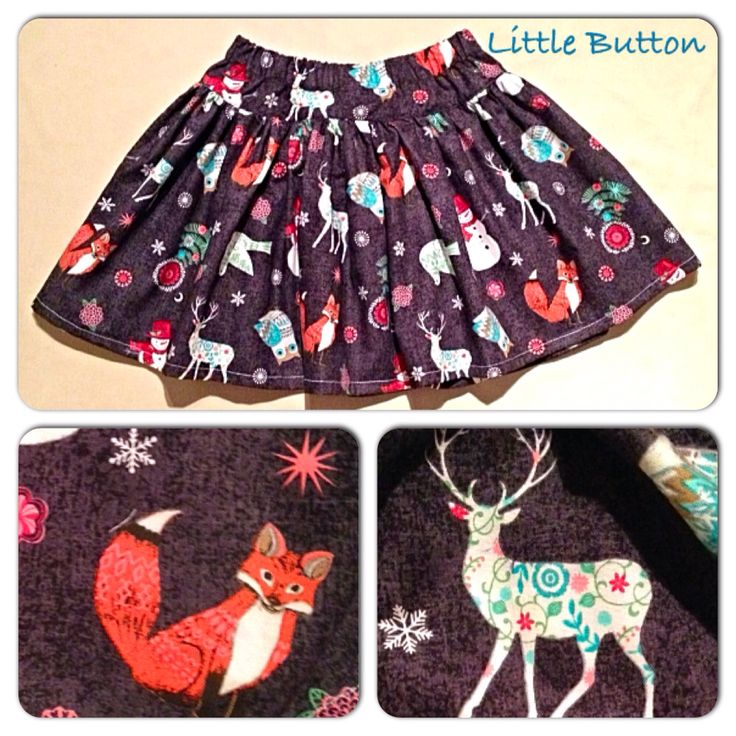 Twirly skirt in 'Christmas Woodland' theme.  Age 6-7 €14