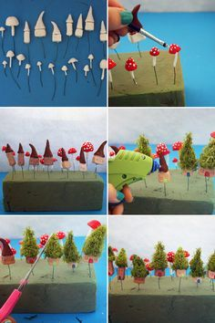 ***CUTE HOUSE, STEP BY STEP*** Mini Fairy houses & mushroom tutorial