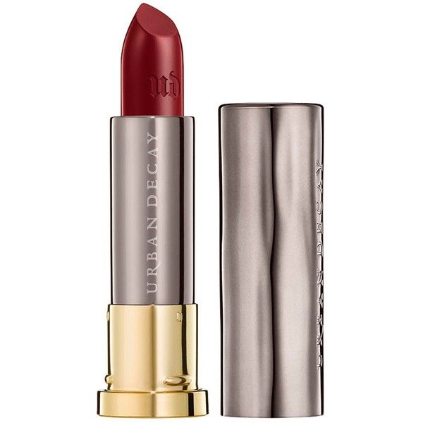 Urban Decay Vice Cream Lipstick - Colour Mrs Mia Wallace (29 NZD) ❤ liked on Polyvore featuring beauty products, makeup, lip makeup, lipstick, creamy lipstick, urban decay, moisturizing lipstick and urban decay lipstick