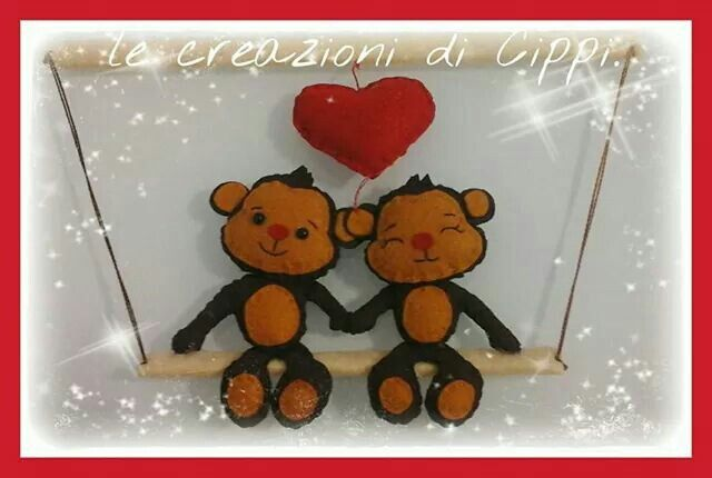 Happy valentine's day felt handmade