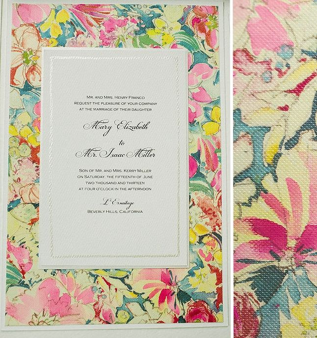 Inspirations  Watercolor Floral Pattern Wedding Invitations