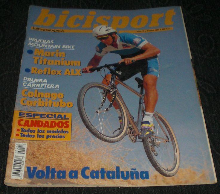 Revista Ciclismo Bicisport N18 Octubre 1990 Candados Volta cataluña Marin Reflex  Con Poster doble de Laudelino Cubino Campeón de España 1990