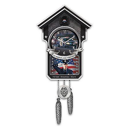 cuckoo clock serve and protect police cuckoo clock
