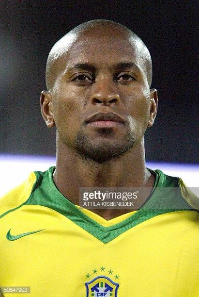 Brazil national soccer team player Ze Roberto poses for photographers in the 'Ferenc Puskas' stadium of Budapest on Wednesday 28 April 2004 prior to...