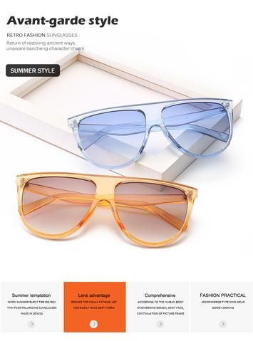 Plastic Oversized Women Sunglasses Square