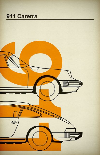 :: 911 ::: Jonathan Mutch, Vintage Cars, Vintage Poster, Porsche 911, Graphics Design, 911 Carrera, 911 Carerra, Automotive Art, Line Art