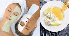 Mascarilla de avena miel y limón para eliminar el vello facial exfoliante