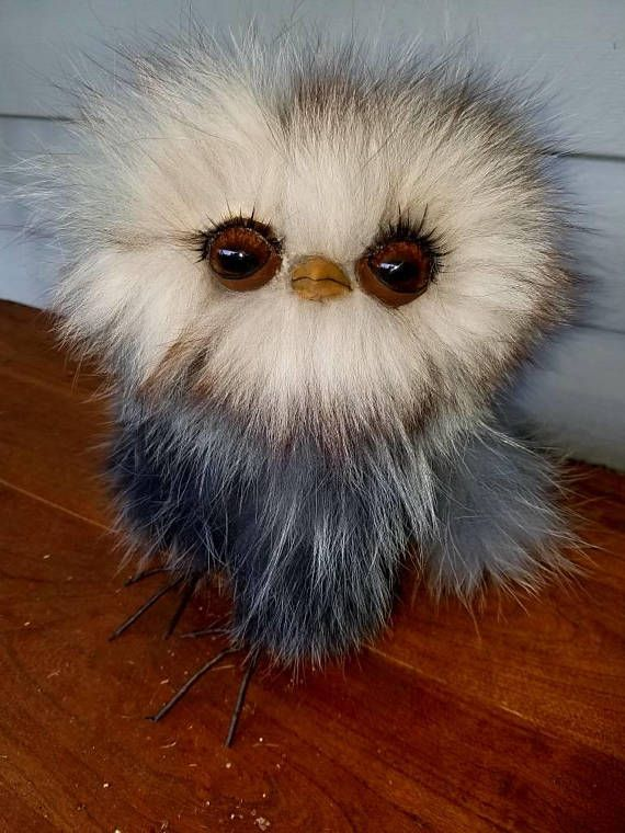 Check out this item in my Etsy shop https://www.etsy.com/listing/533497844/soft-sculpture-real-fur-owl-ooak-textile