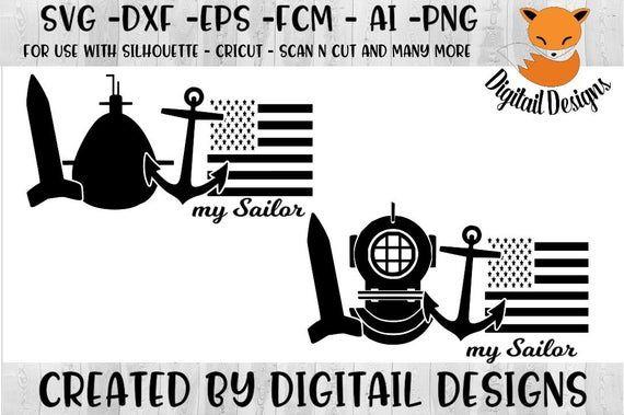 Navy Love SVG - Military Love SVG - dxf - png - eps - fcm ...