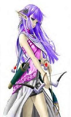 Anime hardcore purple hair elf