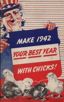 In WWII meat was rationed, and raising your own chickens was encouraged.