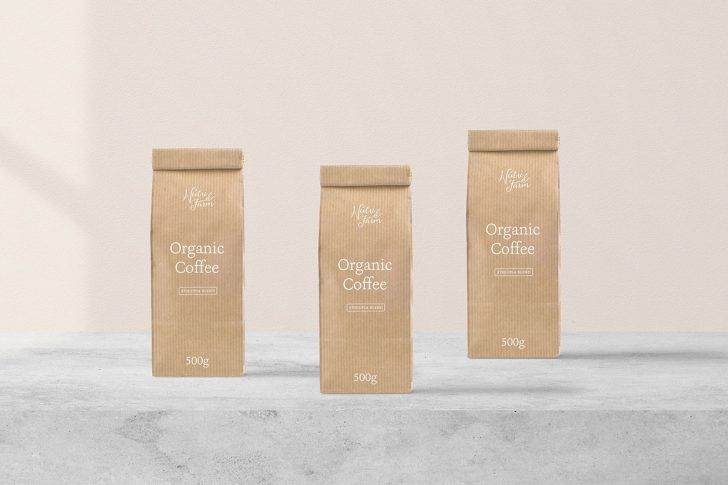 Download Free Small Textured Paper Bags Package Mockup Package Mockups Bag Packaging Packaging Mockup Paper Texture