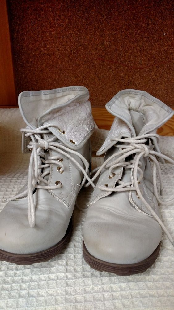 cb9a5a3d0cb Rock Candy by ZiGi - Women's Spray Paint Combat Boots Tan - Size 7 1 ...