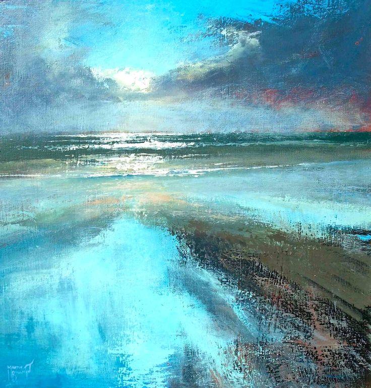 Irish Artist Paints Sea And Sand