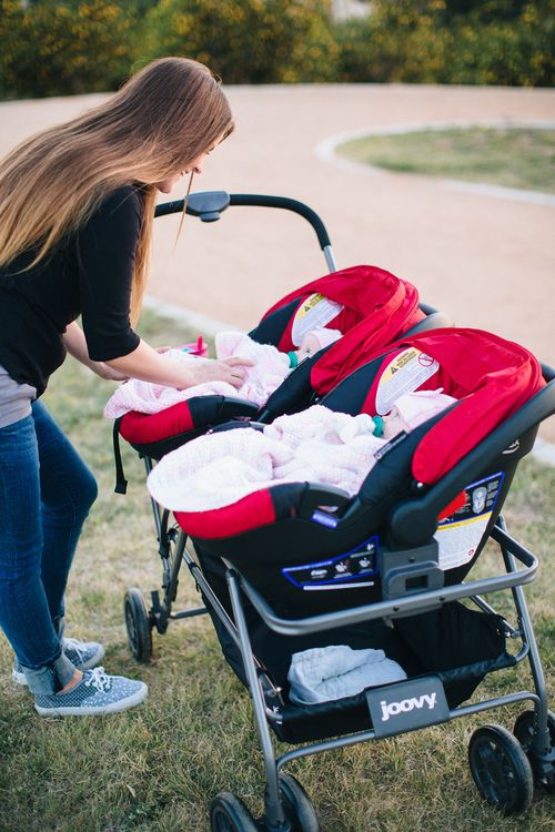 "Twin Stroller With Infant Car Seats ""the Twinroo Provides A Stable And Sturdy Way To Stroll"