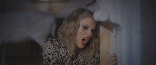 This wall shall feel Taylor's raw emotion. | The 47 Most Important Moments From Taylor Swift's New Video