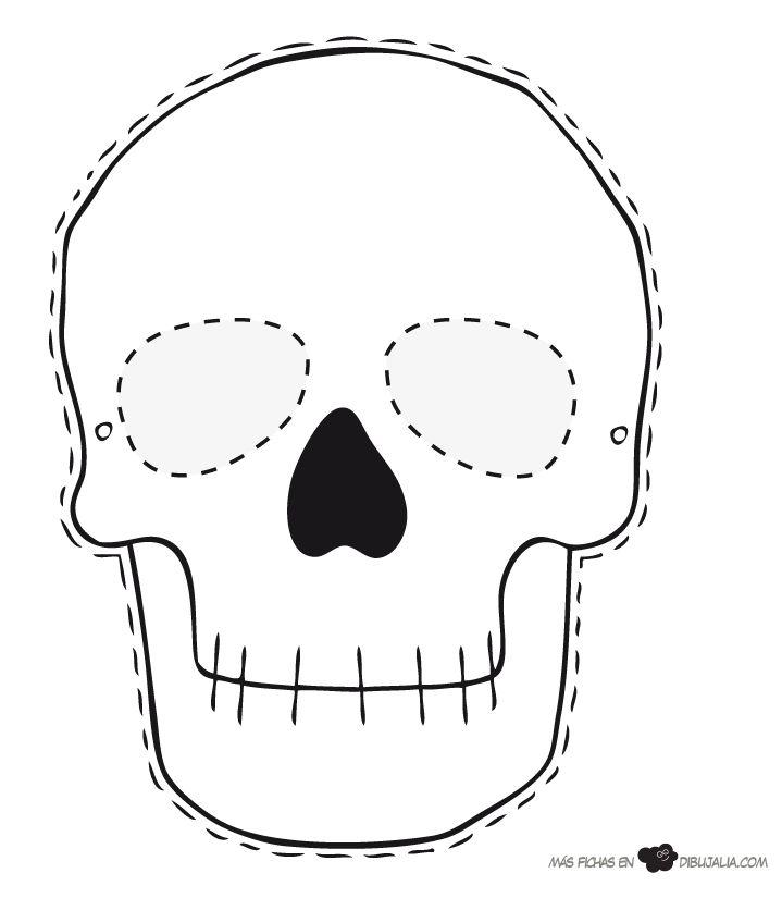 Imagenes Para Dibujar De Halloween Caretas Decoradas