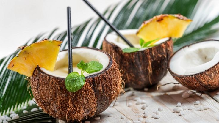 пина колада, кокос, ананас, коктейль, pina colada, coconut, pineapple, cocktail