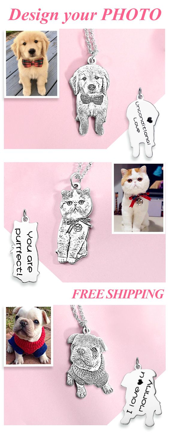 Personalized Pet Photo Necklace for Pet Lovers – Stephanie Habian
