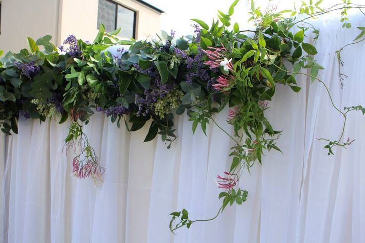 Floral Wall Garland, Opium Wedding Flowers, Gold Coast, Australia