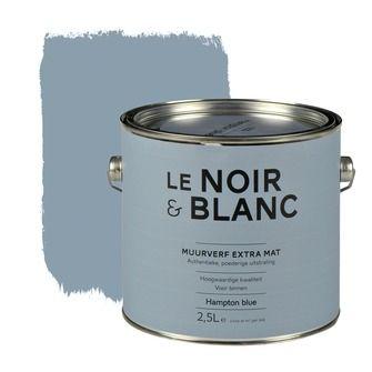 Le Noir & Blanc muurverf extra mat hampton blue 2,5 l | Muurverf kleur | Muurverf | Verf & verfbenodigdheden | KARWEI