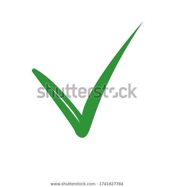 Green Check Icon Yes Mark On White Background Stico Vector Illustration Stock Images Free Vector Illustration Illustration