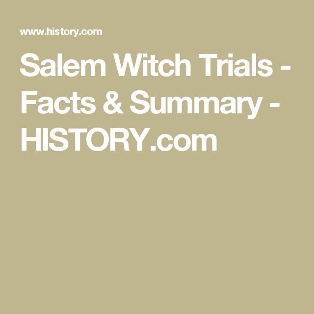 Salem Witch Trials - Facts & Summary - HISTORY.com