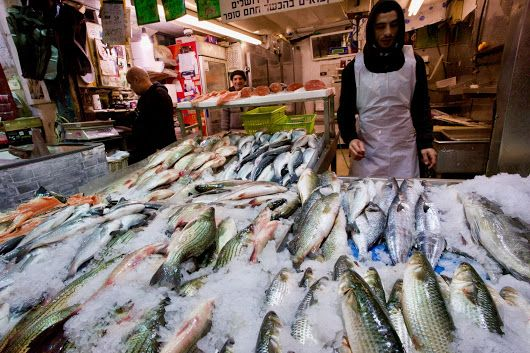 The Fishmonger Machane Yehudah Market in Jerusalem