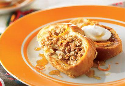 pain doré à l'orange et au granola