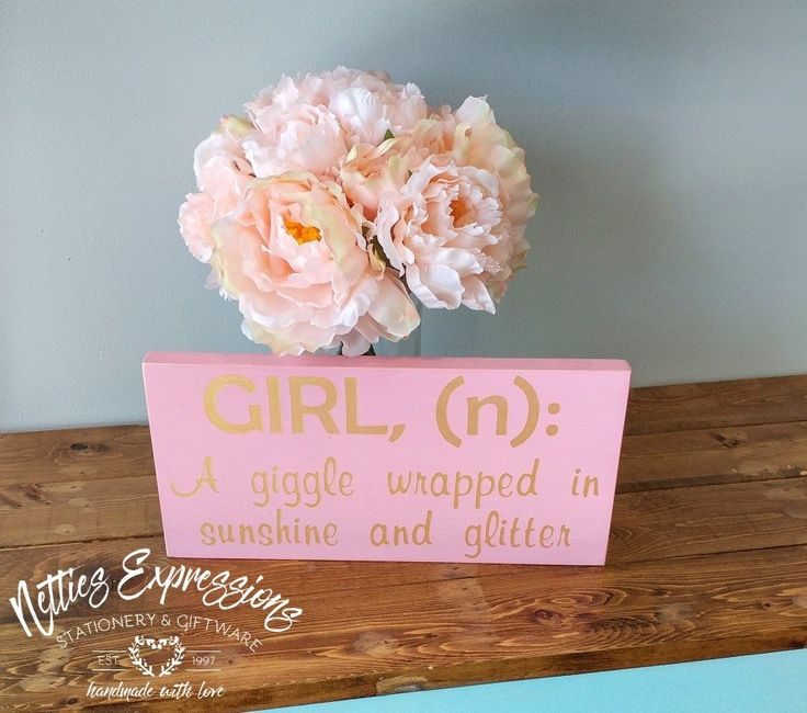 Girl Definition 6x12 Baby Girl Wood Sign - Netties Expressions