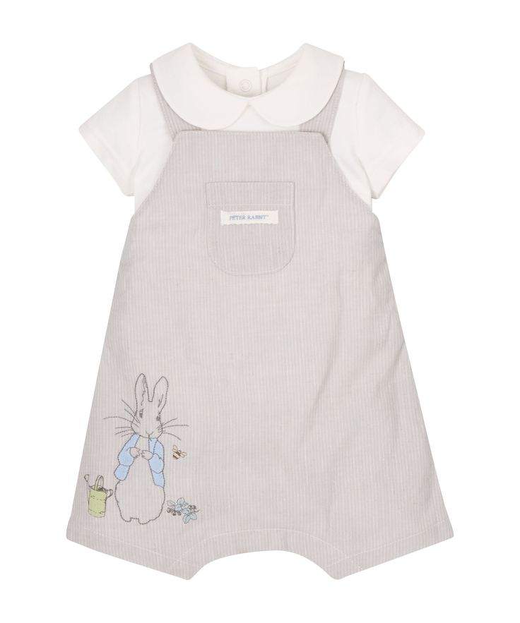 Peter Rabbit Dungarees and Bodysuit - Mothercare 16£