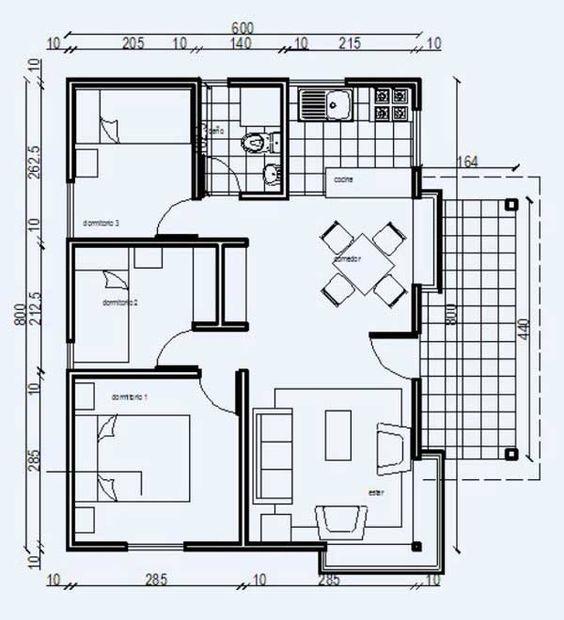 Las 25 mejores ideas sobre planos de casas de madera en for Planos de casas medianas