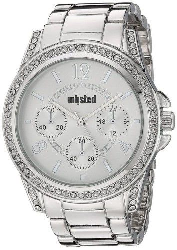 Kenneth Cole New York Unlisted 10030924 Women's Silver Steel Band With Silver Analog Dial Watch NWT