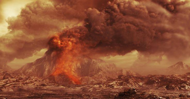 3.dez.2012 - A missão Vênus Express, da Agência Espacial Europeia (ESA, na sigla em inglês), detectou um aumento do dióxido de enxofre na alta atmosfera do planeta, baseado em dados coletados nos últimos seis anos. De acordo com a agência, a descoberta é um indício de que os vários vulcões de Vênus estejam ativos para despejar o material tóxico no ar Imagem: ESA/AOES