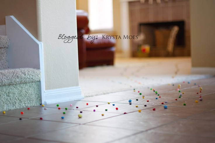 """""""bunny trail"""" to each kid's basket"""