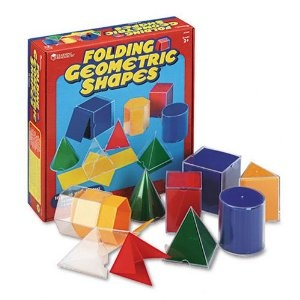 Learning Resources Folding Geometric Shapes (Set of 16)