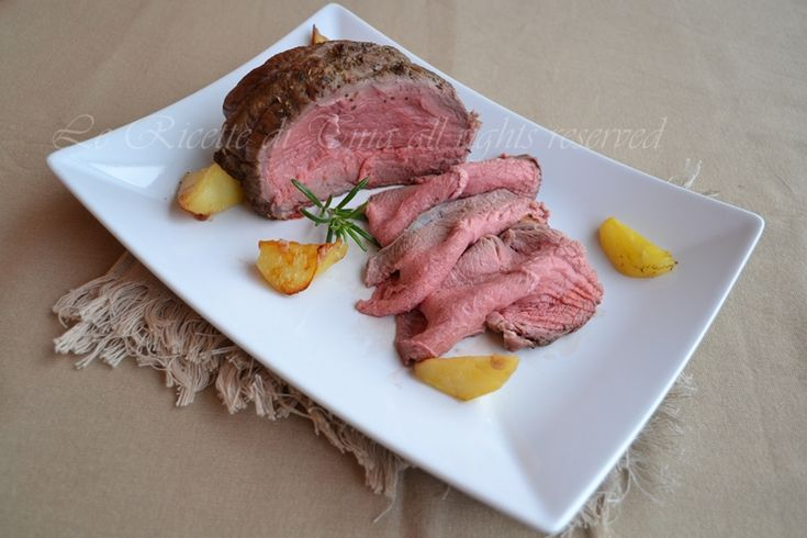 Roast beef al forno,un secondo piatto molto semplice,va preparato in anticipo e gustato freddo