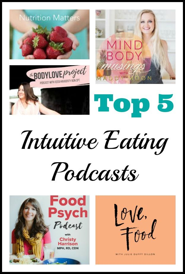Top 5 Intuitive Eating and Body Positive Podcasts to Add to Your Playlist | http://www.prettylittlegrub.com/2017/02/28/intuitive-eating-podcast/