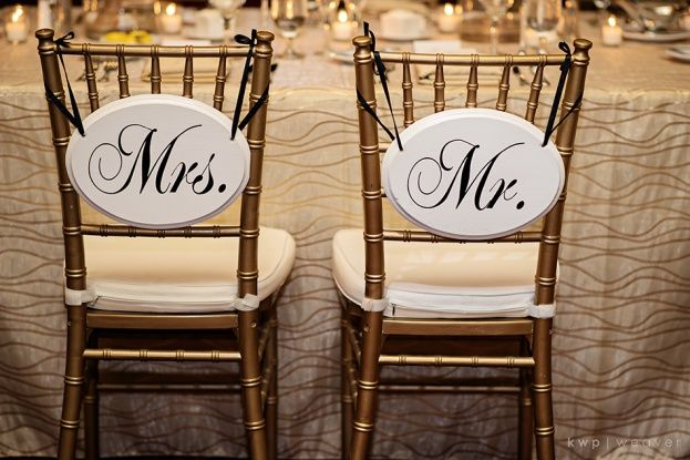 Ballroom at Church Street: Chelsea and Adam  Gold Chiavari Chairs by A Chair Affair Photo by Kristen Weaver Photography