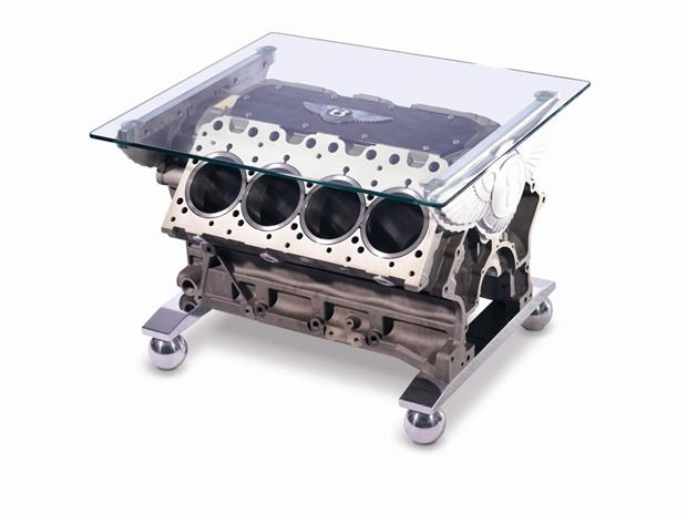 V8 engine table by Bentley