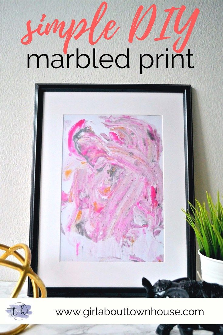 DIY marbled paper prints tutorial using shaving foam & food colouring. So easy!