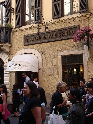 Caffe Greco --  One of the oldest and most elegant caffes to enjoy your coffee.  On Via Condotti near the Spanish Steps.