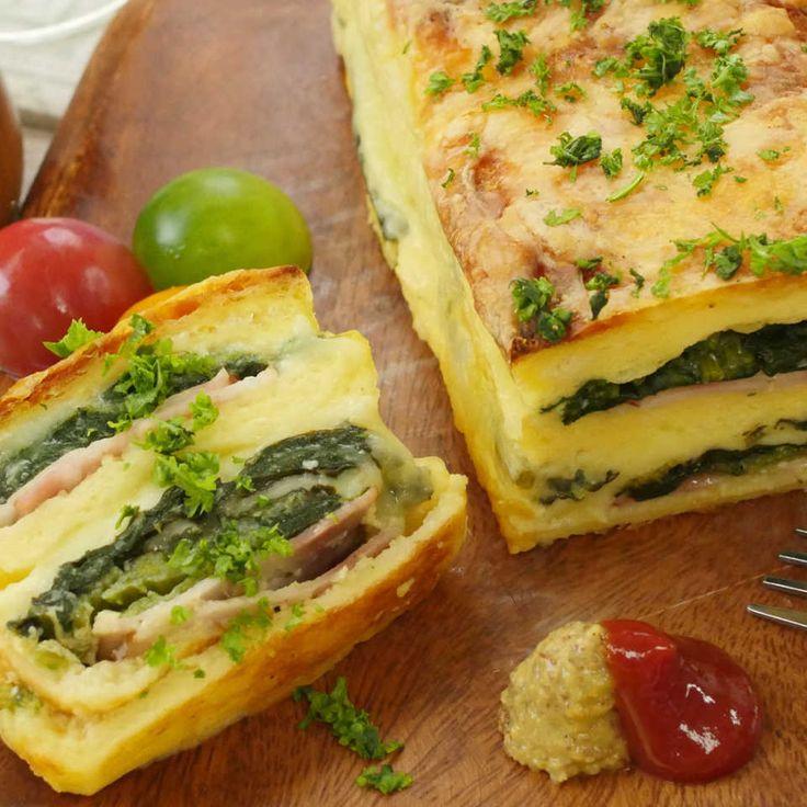 話題の朝ごパン! 食パンでとろ〜りチーズの簡単クロックケーク