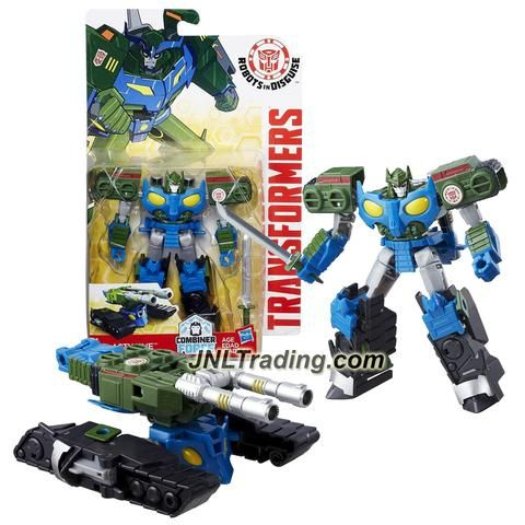 Hasbro Year 2016 Transformers Robots in Disguise Combiner Force Warriors Class 5-1/2 Inch Tall Figure - BLASTWAVE with Sword (Vehicle: Battle Tank)