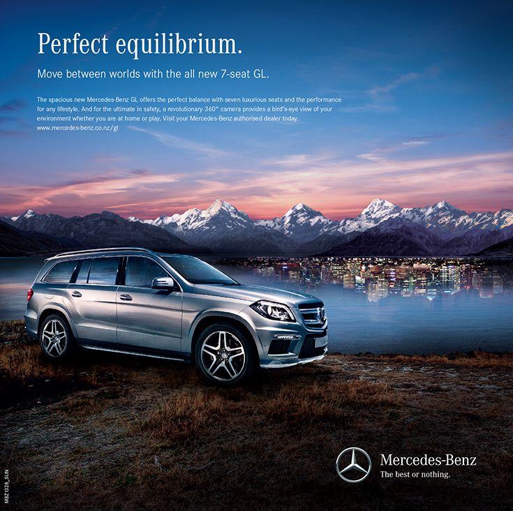 Mercedes-Benz GL press advertising.